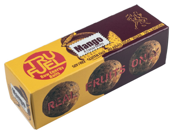 RAW BONBON WITH MANGO AND COCOA BEANS
